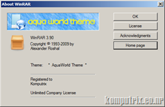 WinRar 3.90 Final + 40 themes + keygen