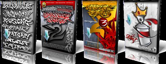 Kumpulan font graffiti lengkap (4 volume)