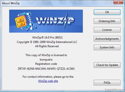 WinZip Pro 16.0 Build 9661 Final Nén và giải nén thông dụng.